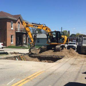 Street work in Norfolk County
